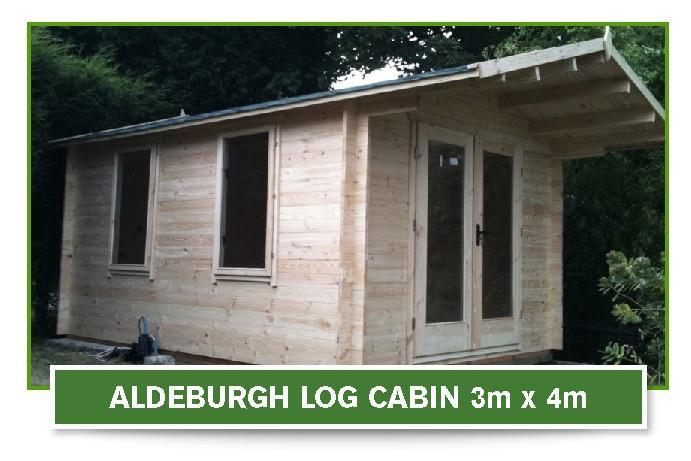 Aldeburgh log cabin 3m x 4m - Beaver Log Cabins