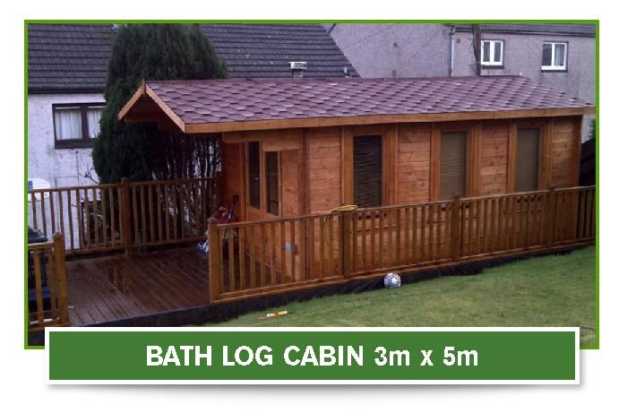 Bath Log Cabin 3 metre x 5 metre