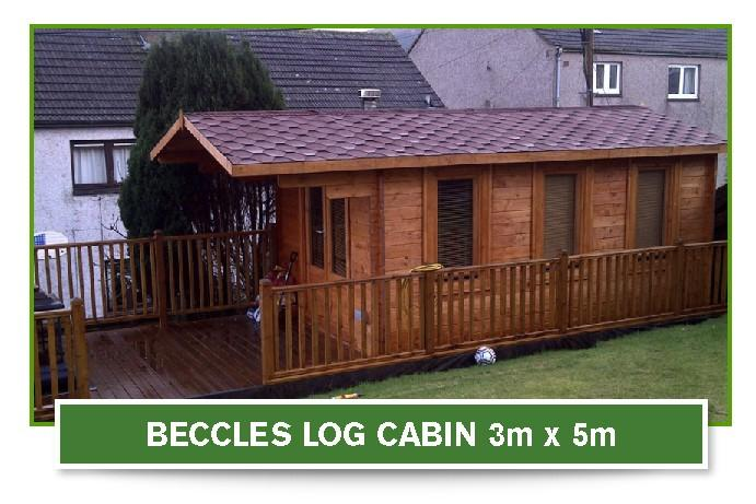 beccles log cabin 3m x 5m