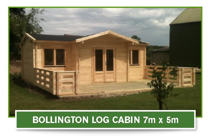 bollington log cabin 7m x 5m