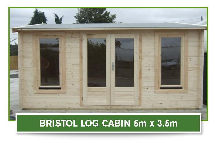Bristol Log Cabin 5 metre x 3.5 metre