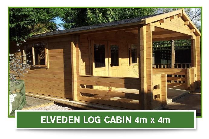 elveden log cabin 4m x 4m