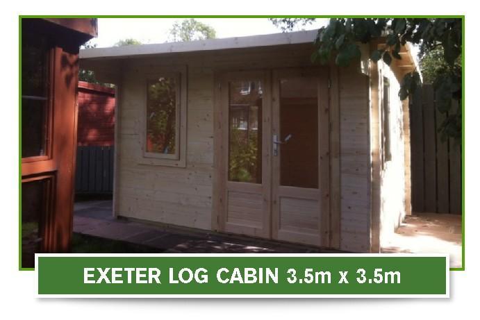 Exeter Log Cabin 3.5 metre x 3.5 metre