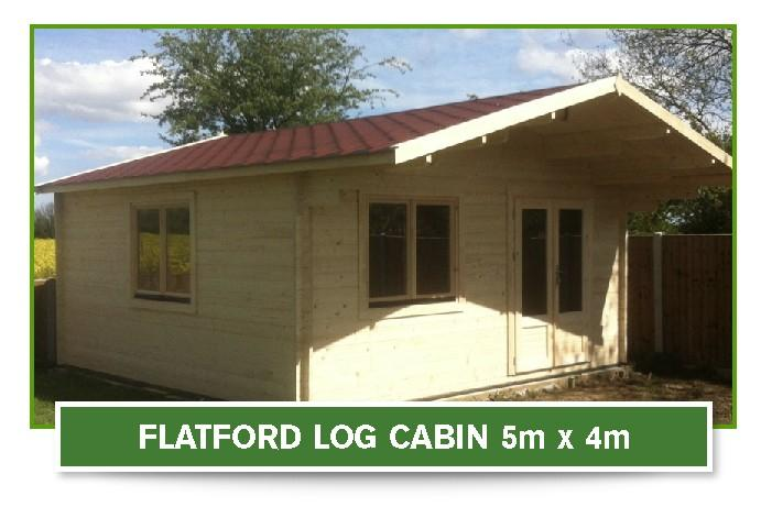 flarford log cabin 5m x4m