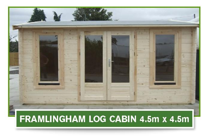 framlington log cabin 4.5m x 4.5m