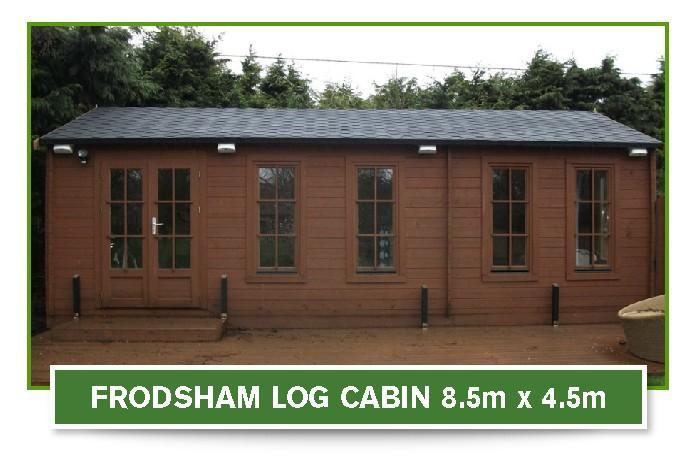 frodsham log cabin 8.5m x 4.5m