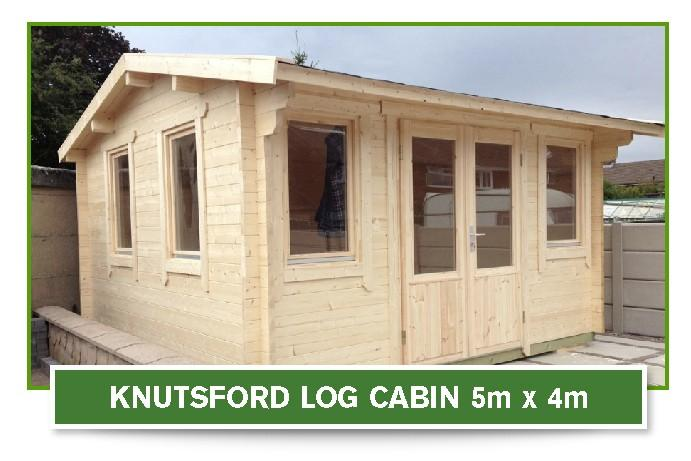 knutsford log cabin 5m x 4m