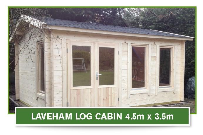 laveham log cabin 4.5m x 3.5m