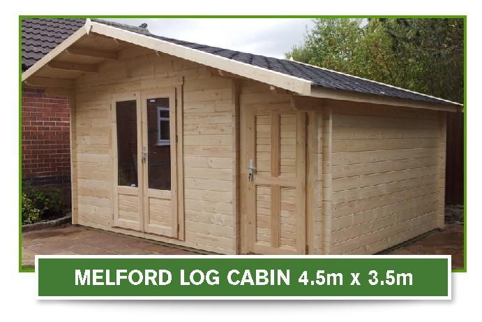 melford log cabin4.5m x 3.5m
