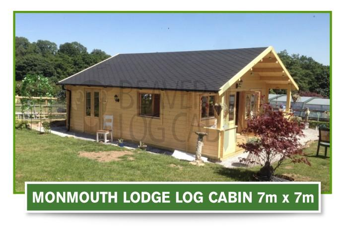 monmouth lodge log cabin 7m x 7m
