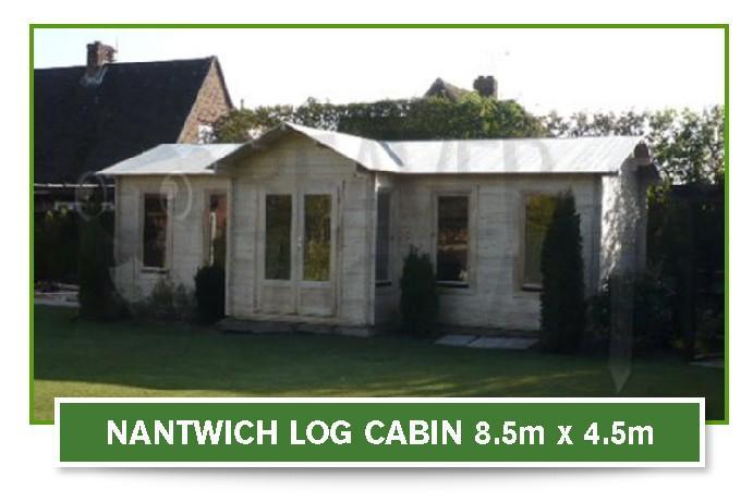 nantwich log cabin 8.5m x 4.5