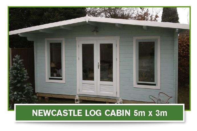 newcastle log cabin 5m x 3m