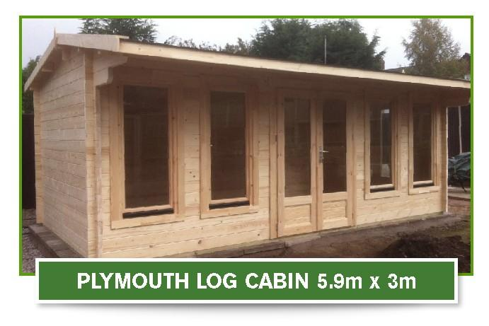 plymouth log cabin 5.9m x 3m