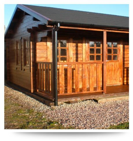 bespoke log cabin pavillion