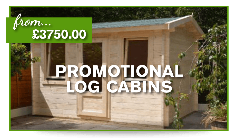 Manchester Log Cabin 3.5mx2.5m