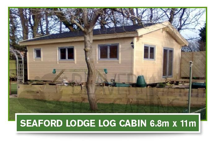 seaford log cabin 6.8m x 11m
