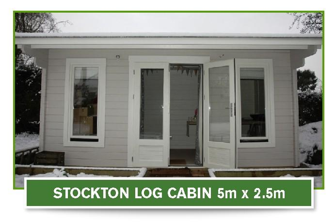 stockton log cabin 5m x 2.5m