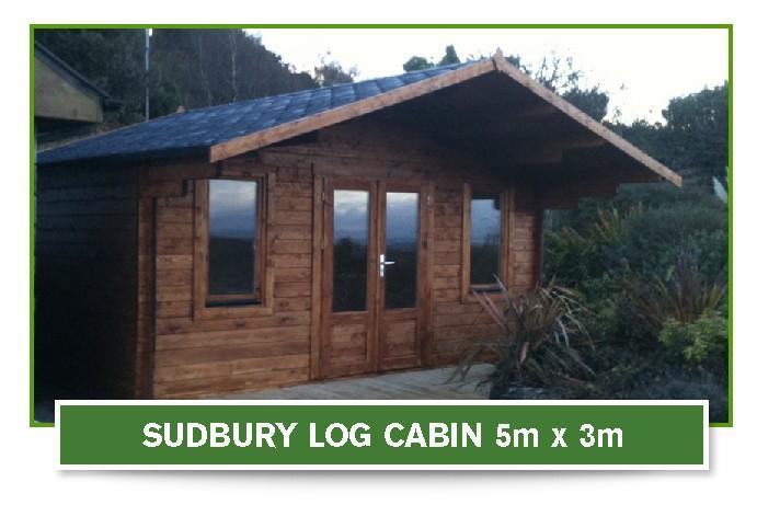 sudbury log cabin 5m x 3m