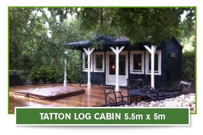 Tatton log cabin 5.5m x 5m