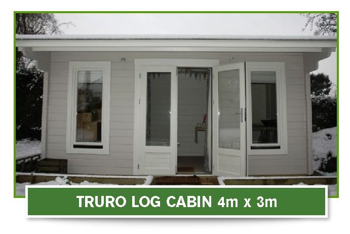 Truro Log Cabin 4 metre x 3 metre