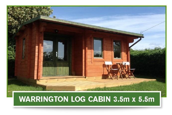 warrington log cabin 3.5m x 5.5m