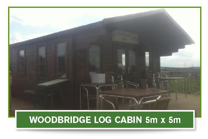 woodbridge log cabin 5m x 5m