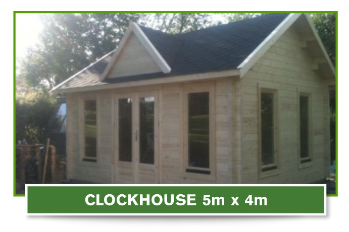 Clock House log cabin 5m x 4m