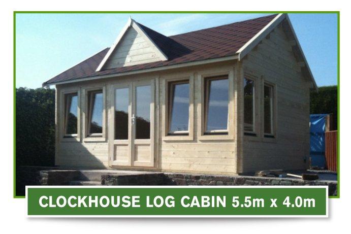 Clock House Log Cabin 5.5m x 4m
